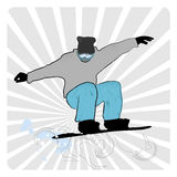 The Ssnowboarder Royalty Free Stock Photography