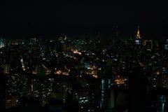 Sao Paulo night time. Night time view of Sao Paulo towers Royalty Free Stock Photo