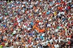 Sspectators nello stadio Immagine Stock Libera da Diritti