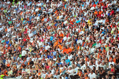 Sspectators in the stadium Royalty Free Stock Image