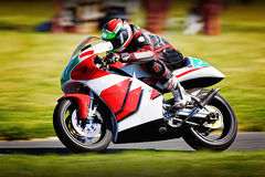 Sports motorbike racing Stock Images