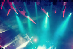 Sstage lights - retro styled Royalty Free Stock Photography