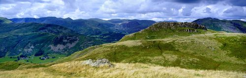 SStanding on Angletarn Pikes. Viewing the  fells whilst standing on Angletarn Pikes Royalty Free Stock Photos