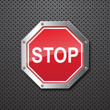 Sstop sign background Royalty Free Stock Images