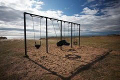 Sswing at the beach. A swing at the beach in South Sweden Royalty Free Stock Image