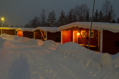 Stöten in Sälen in Schweden lizenzfreies stockfoto