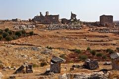 städer döda syria Arkivbilder