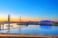 Städer för Fifa-världscupvärd Ryssland St Petersburg 2018 Royaltyfri Foto