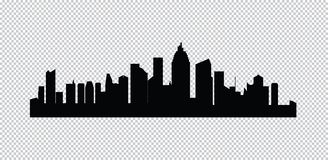 städer inställd silhouettevektor royaltyfri fotografi