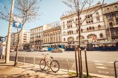 Städte mit weniger Verkehr - Fahrradkultur lizenzfreie stockfotos