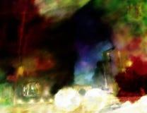Städtische abstrakte Malerei vektor abbildung
