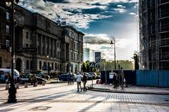 Städtische alte Stadt Stockfoto