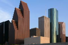 Städtische Ansicht der im Stadtzentrum gelegenen Gebäude des Stadtwolkenkratzers Stockfoto