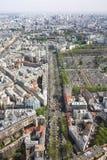 Städtische Ansicht vom hohen Gebäude Lizenzfreie Stockfotos