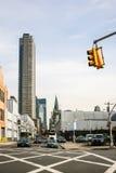 Städtische Ansicht von Manhattan Stockbild