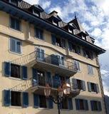Städtische Architektur in Chamonix-Mont-Blanc, Frankreich lizenzfreies stockbild