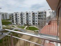 Städtische Architektur Künstlerischer Blick in den Weinlesekräftigen farben Stockfoto
