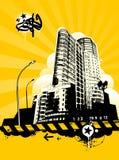 Städtische Auslegung lizenzfreie abbildung