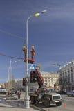 Städtische Dienstleistungen sind die Stadt für den Feiertag Stockbilder
