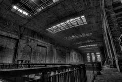 Städtische Erforschung der Triebwerkanlage Stockfoto