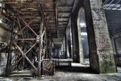 Städtische Erforschung der Triebwerkanlage Stockbilder