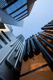 Städtische Gebäude mit Gefäßen Lizenzfreies Stockfoto