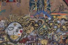 Städtische Graffiti in Bisbee Arizona Lizenzfreies Stockfoto