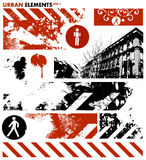 Städtische grafische Elemente 1/Vektor lizenzfreie abbildung