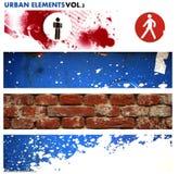 Städtische grafische Elemente 2 stock abbildung