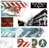 Städtische grafische Elemente lizenzfreie abbildung