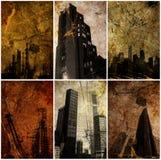 Städtische grunge Hintergrundserie Lizenzfreie Stockfotografie