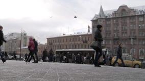 Städtische hastige Geschäftigkeit stock video