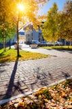 Städtische Herbstlandschaft Stockfotografie