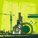 Städtische Hintergrundserie lizenzfreie abbildung