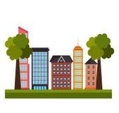 Städtische Immobilien Stockbild