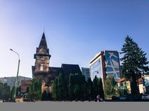 Städtische Kirche stockbild
