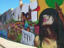 Städtische Kunst in Cartagena de Indias stockbilder