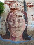 Städtische Kunst in Cartagena de Indias lizenzfreies stockbild