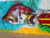 Städtische Kunst, Fisch Stockbilder