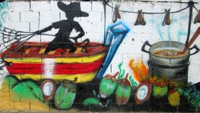Städtische Kunst in Ost-Venezuela Stockfoto