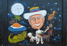 Städtische Kunst Tribut zu Simon Diaz Lizenzfreie Stockfotos