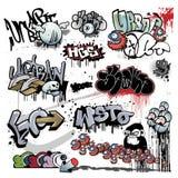 Städtische Kunstelemente der Graffiti Stockbild