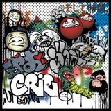 Städtische Kunstelemente der Graffiti Stockfoto