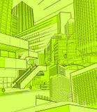 Städtische Landschaft Stockfotografie