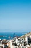 Städtische Landschaft, Piraeus, Griechenland Stockfotografie