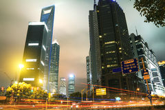 Städtische Landschaft Shanghais Lujiazui Stockfoto