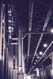 Städtische Nacht Chicago-Gasse stockfotos