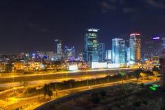 Städtische Nachtansicht lizenzfreie stockfotos