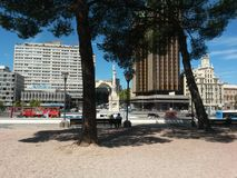 Städtische Park-Szene stockbilder