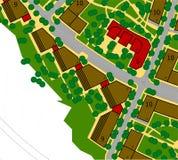 Städtische Planzeichnung Stockfotos